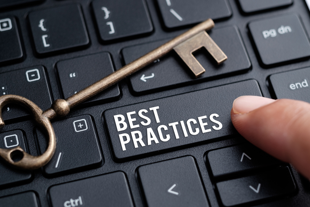 Security Awareness Training Best Practices keyboard with key